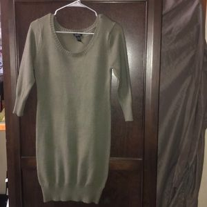 Olive sweater dress tight at knees
